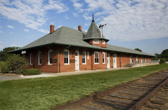 The historic Belton Depot, home of the Ruth Drake Museum and the South Carolina Tennis Hall of Fame